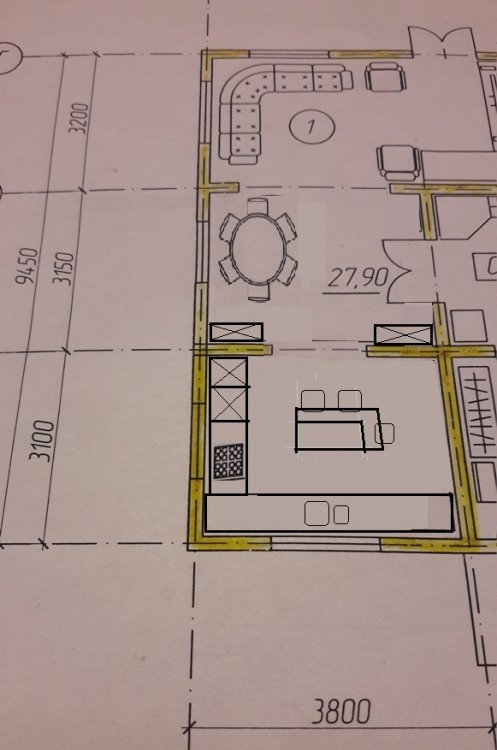 Кухня 10 кв.м и остров, возможно?