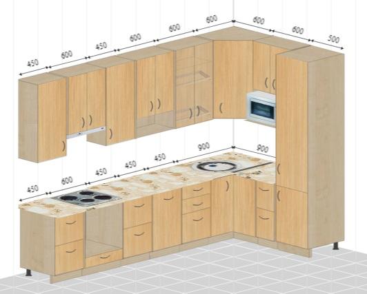 Расстановка мебели на кухне. Нужна помощь.