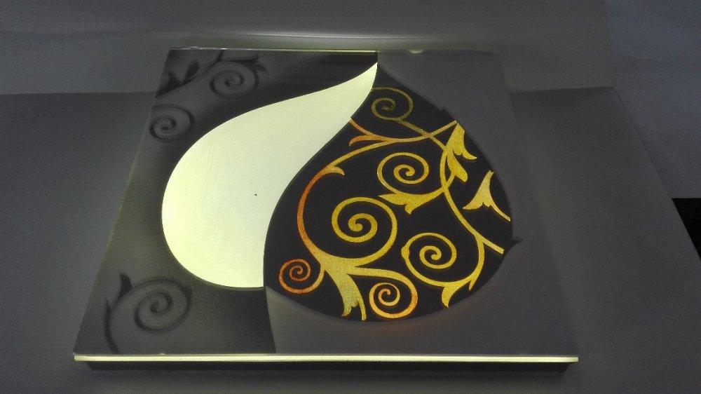 Светодиодная плитка для фартуков из стекла и камня.-6