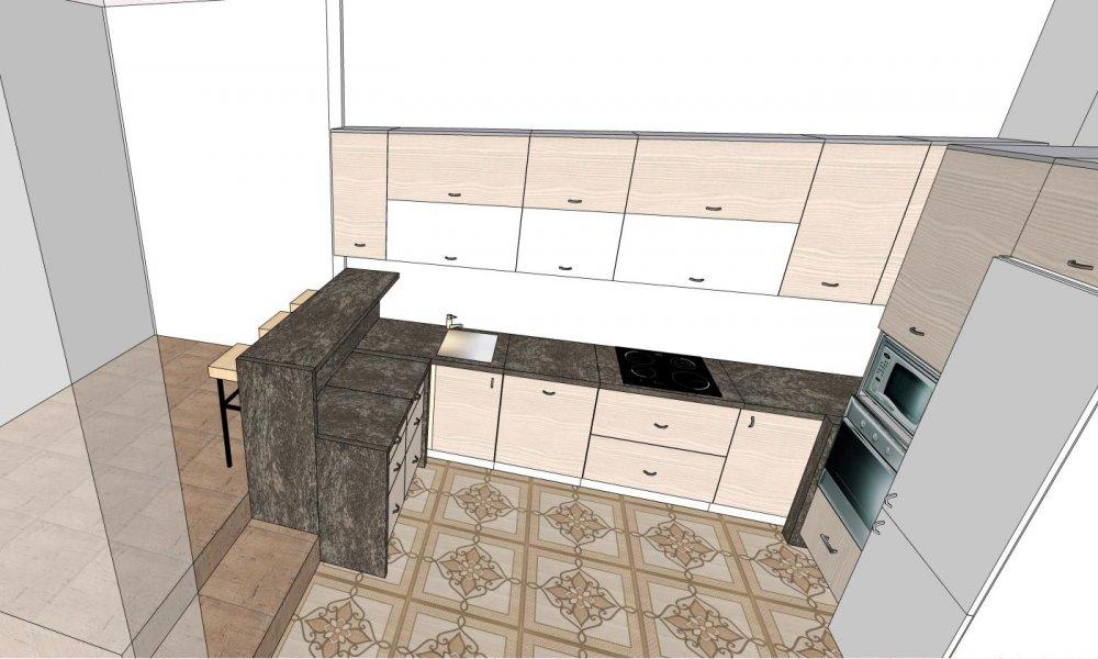 Расстановка мебели на кухне. Нужна помощь.-2