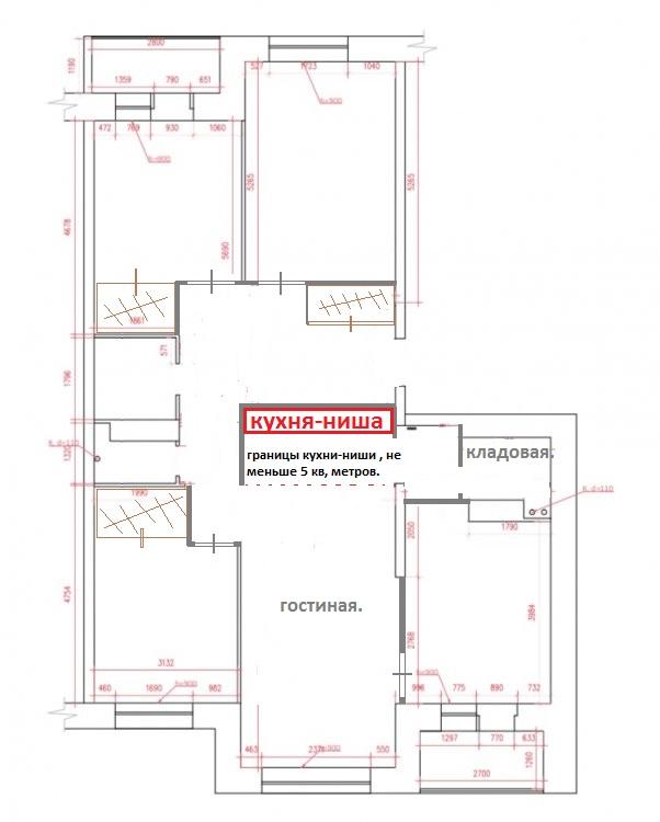 4-ка 107кв м помогите в планировке и делении квартиры