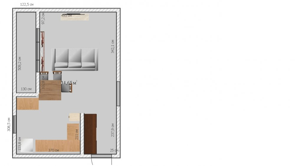 Помогите с перепланировкой кухни-столовой-гостинной-3