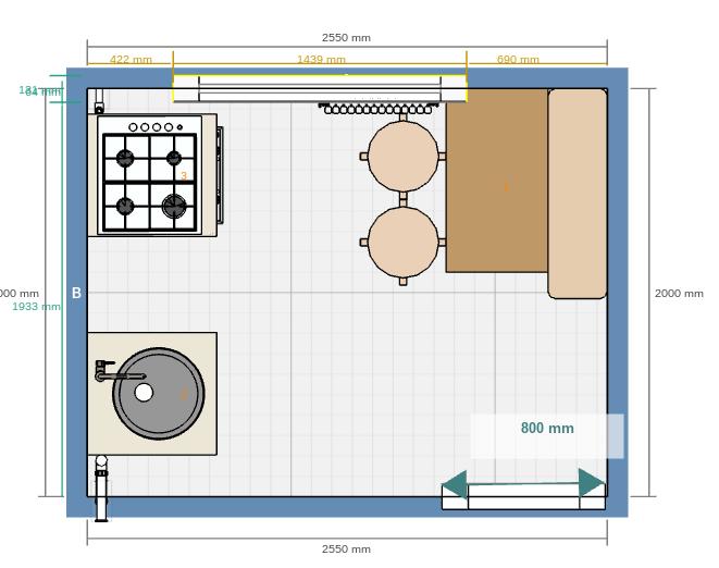 Кухня для 5 кв м
