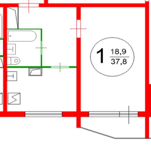Перепланировка однокомнатной в панельном доме П44-2