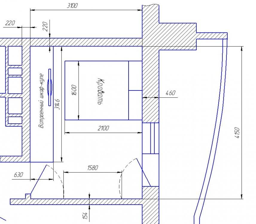 Поршу помощи в компоновке мебели спальни 3х4