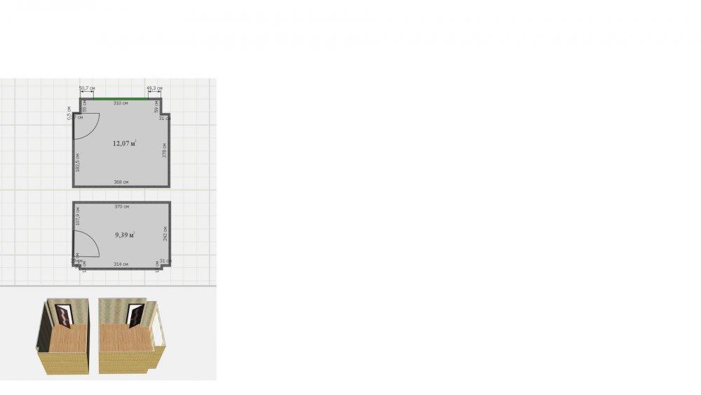 Дизайн детской и родительской спальни без окна