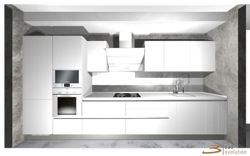 Одинаковая плитка на полу на кухне, в санузлах и в коридоре-3