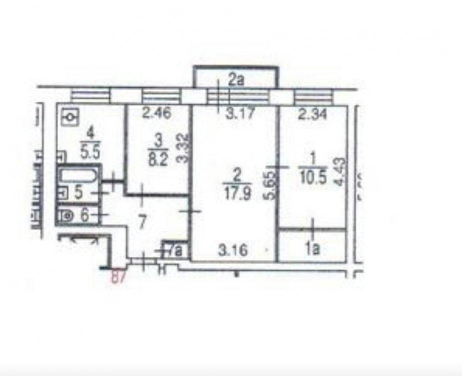 Кухня, коридор, ванная