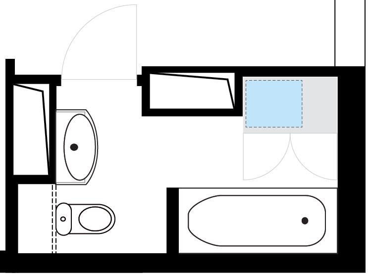 Планировка совмещённого санузла-3
