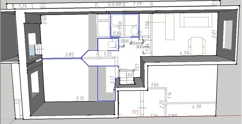 Подскажите с планировкой 2-ки 54 кв.м
