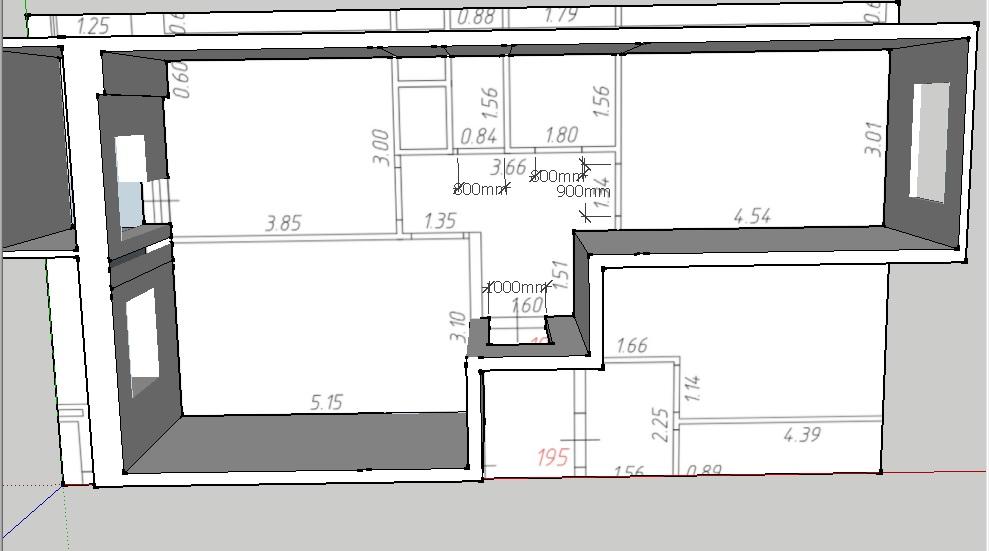 Подскажите с планировкой 2-ки 54 кв.м-3