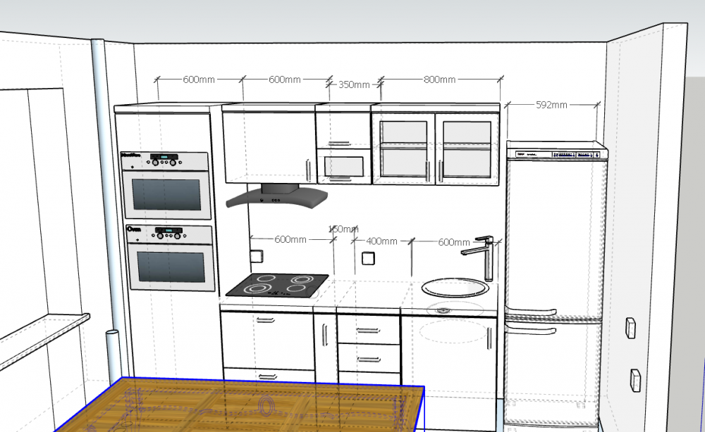 Расстановка кухонного гарнитура-2