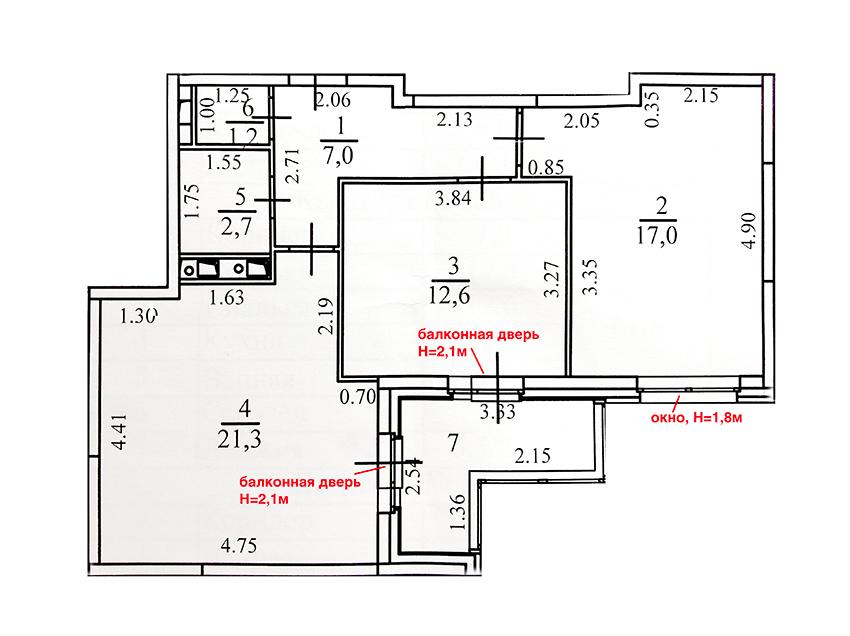 Помогите с планировкой 64 кв.м