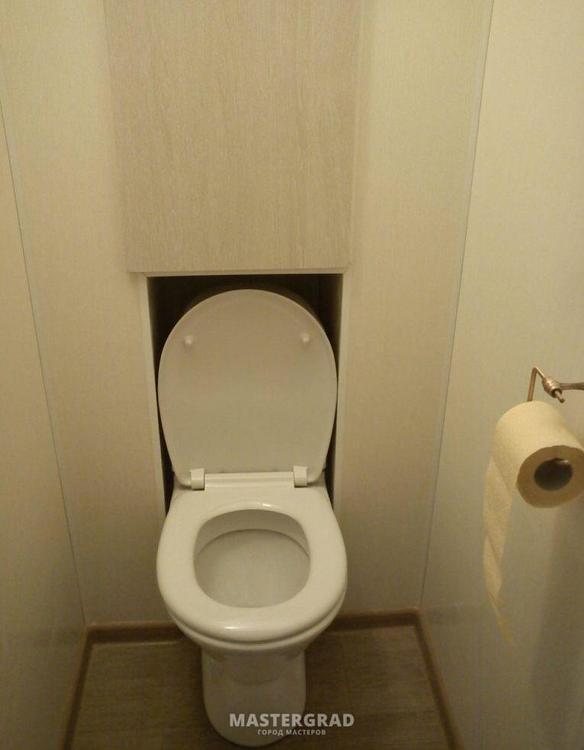 Как заделать сантехшкаф в туалете, нужны идеи.