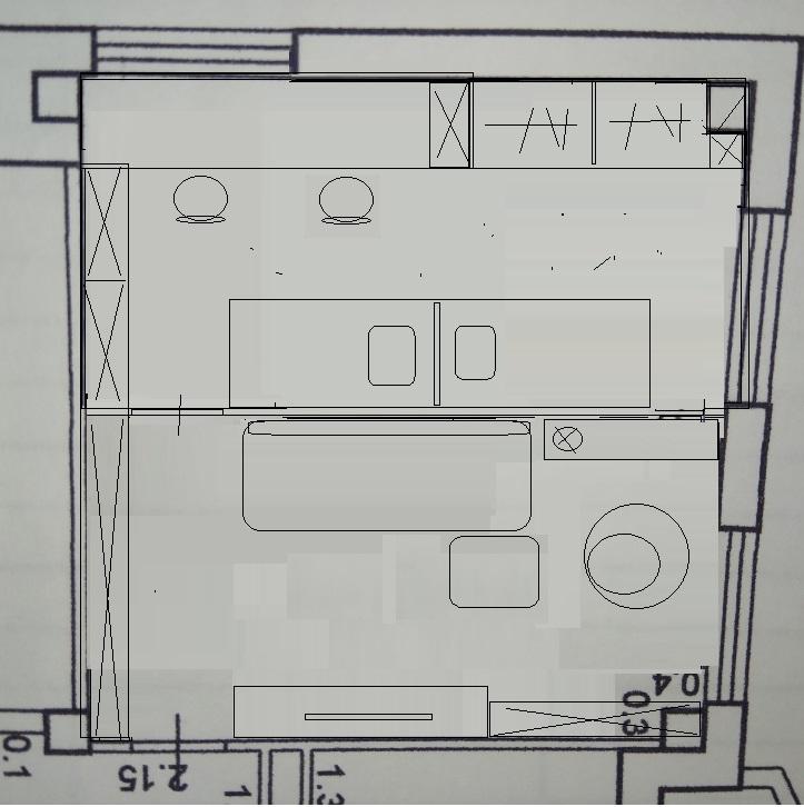 Детская и гостиная из большой комнаты