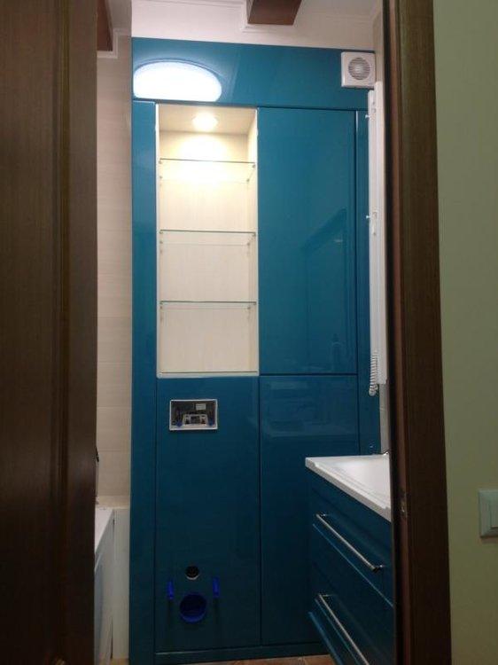 Вот такое решение для ванной комнаты