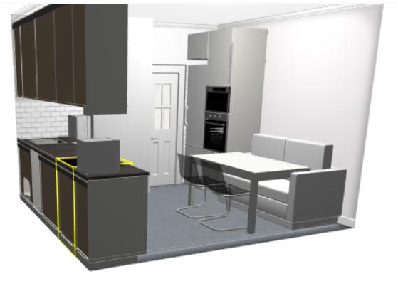 Дизайн кухни с воздуховодом-2