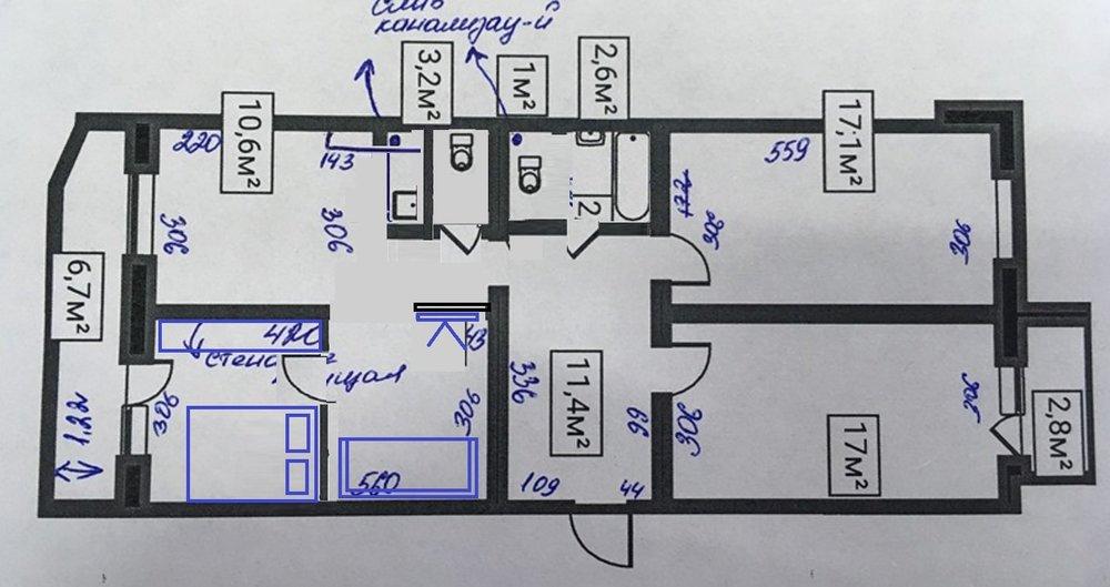 3-ка в панельном доме