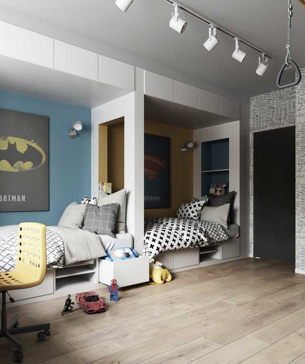 Из чего сделать мебельную конструкцию в детской-2