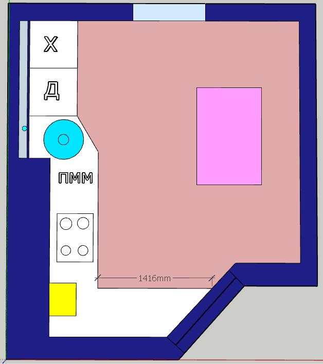 Кухня пятистенка-2