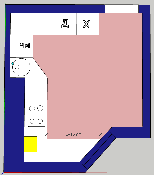 Кухня пятистенка-3