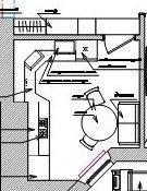 Кухня пятистенка