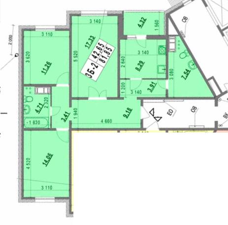 Планировка трешки в панельном доме для семьи из четырех человек.