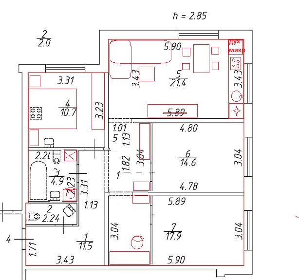 Уютная квартира для четверых-2