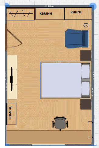 Помогите пожалуйста с расстановкой мебели в комнате однушки