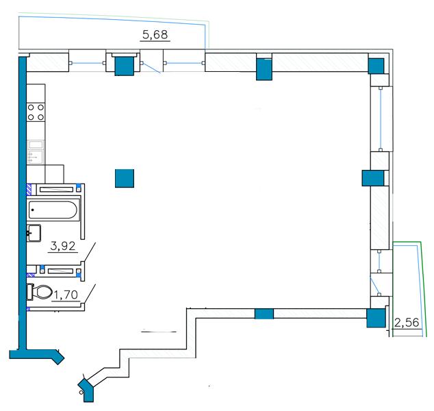 Перепланировка 3х комн в 4х комн (89 кв.м, новострой) варианты дизайнера