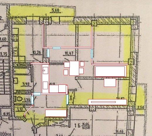 Перепланировка 3х комн в 4х комн (89 кв.м, новострой) варианты дизайнера-2