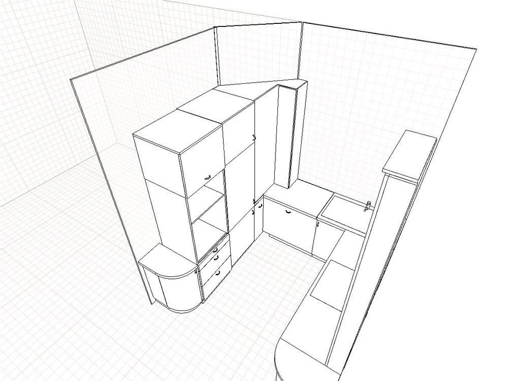 Кухня с 5-м углом. Помогите с проектом.-3