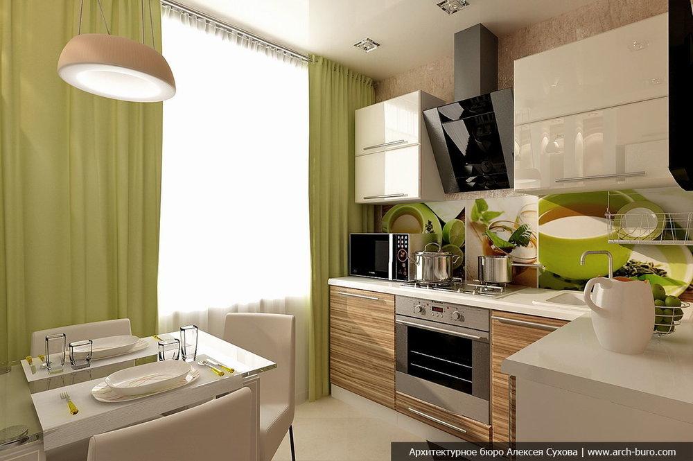 Уместны ли темно-коричневые фасады в маленькой кухне?