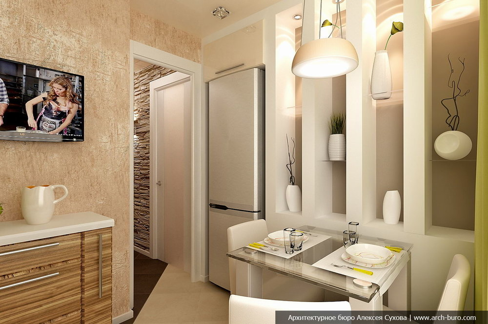 Уместны ли темно-коричневые фасады в маленькой кухне?-2