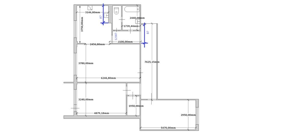 Перепланировка кухни-гостиной и ванны