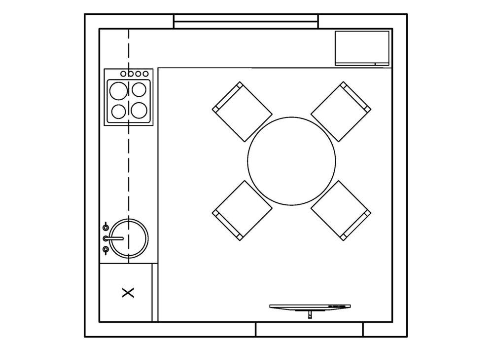 Как все вместить на маленькой кухне
