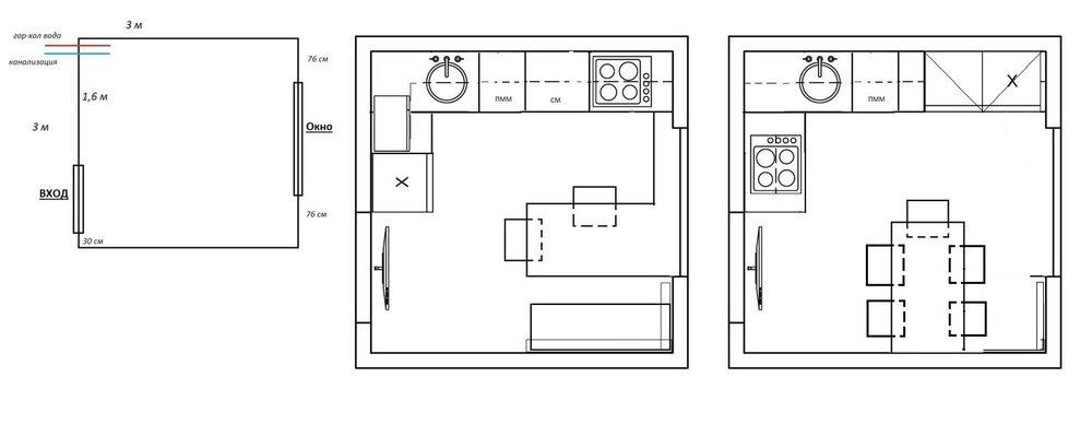 Как все вместить на маленькой кухне-2