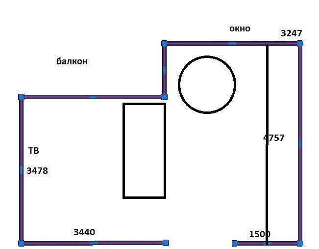 Кухня-гостиная 28м