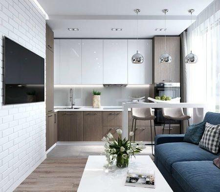 Дизайн кухни с зоной отдыха (и прихожая)-2