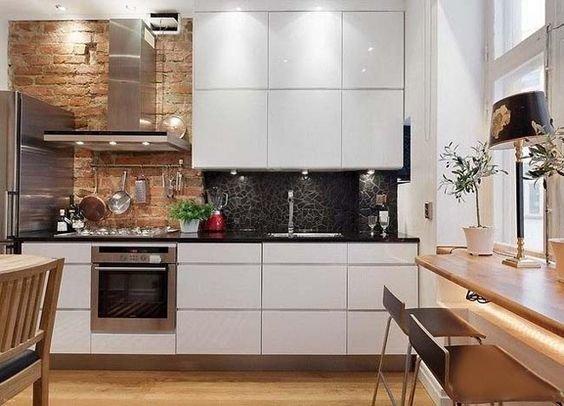 Дизайн кухни с зоной отдыха (и прихожая)-4