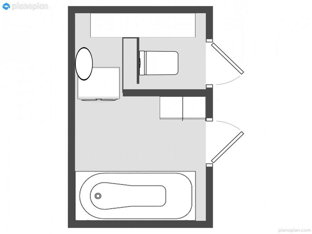Расстановка мебели в маленькой ванной
