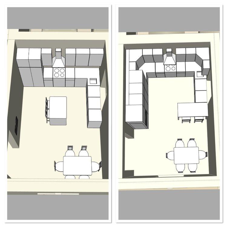 Кухня в доме - 4 планировки