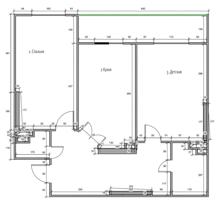 Планировка 2-х комнатной квартиры