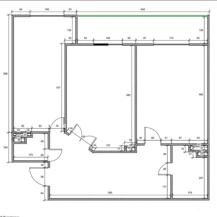Планировка 2-х комнатной квартиры-2