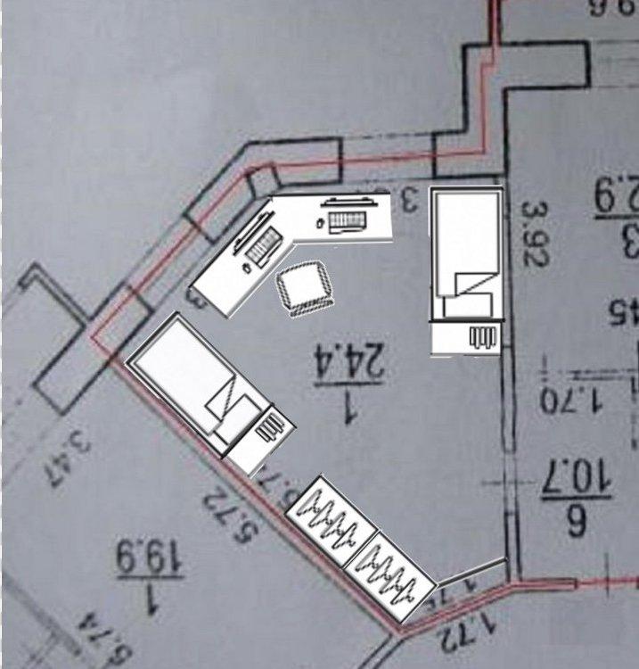 Пятиугольная комната на двоих. Помогите с идеями.-2