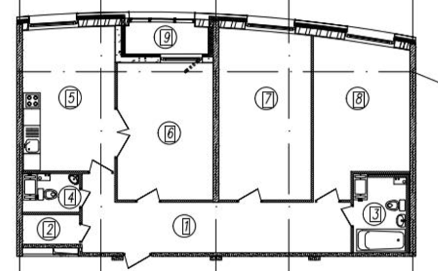 Трешка - в квартиру с тремя спальнями