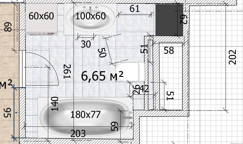 Санузел 6,5 кв.м. с выступами-3