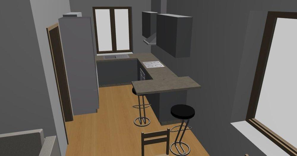 дизайн кухни и расстановка мебели гостинная