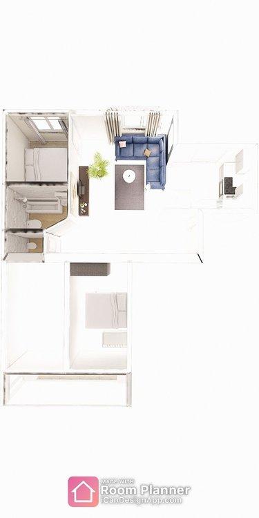 Перепланировка 4х комнатной чешки-2