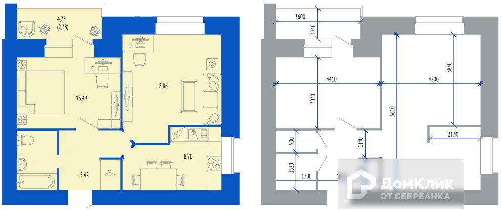 Изолировать комнату и кухню-2
